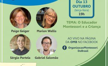 Nesta terça-feira tem encontro com a OMB: o Educador Montessori e a Criança. Participe!