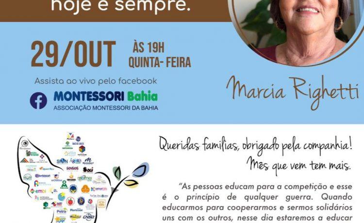 Tem ciclo de palestras Montessori para famílias nesta quinta-feira (29)